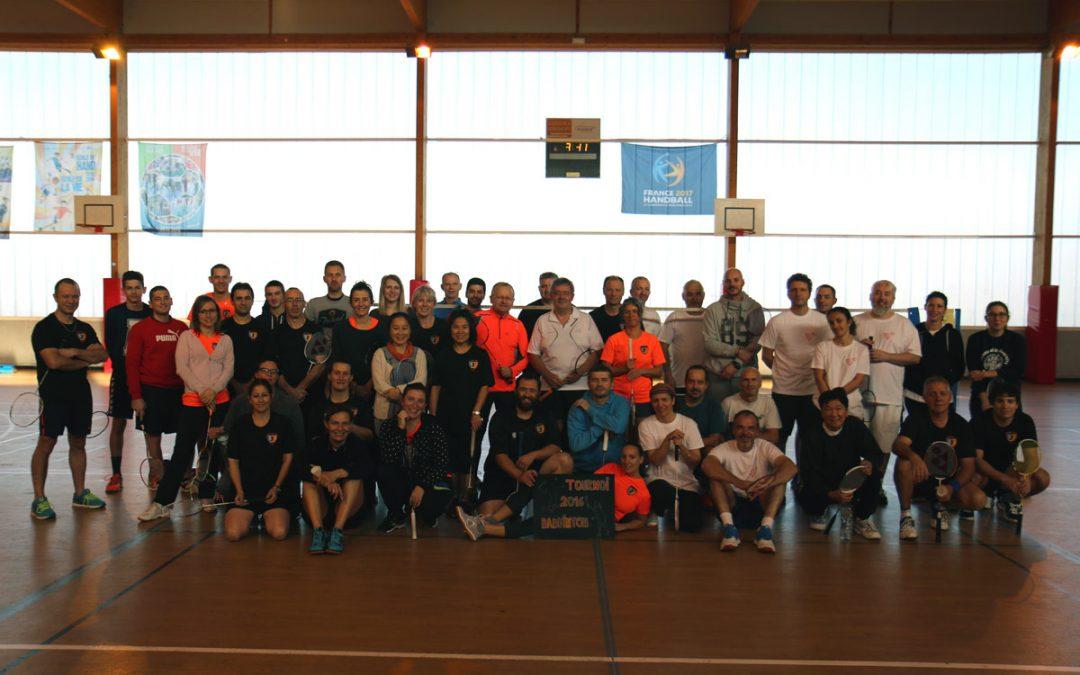 Tournoi de badminton à Peyrolles le 04/12/2016