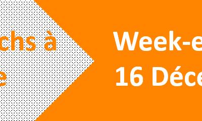Week-end du 15 & 16 Décembre 2018: Les matchs de handball à domicile