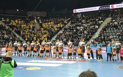 Les U11 et U15 de la section handball: escort kids du PAUC le 28 Novembre 2018